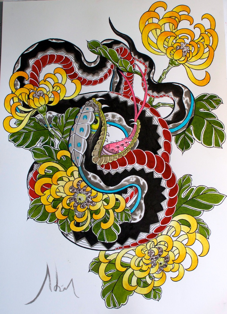 1000 images about hebi tattoo on pinterest japanese for Japanese tattoo flash